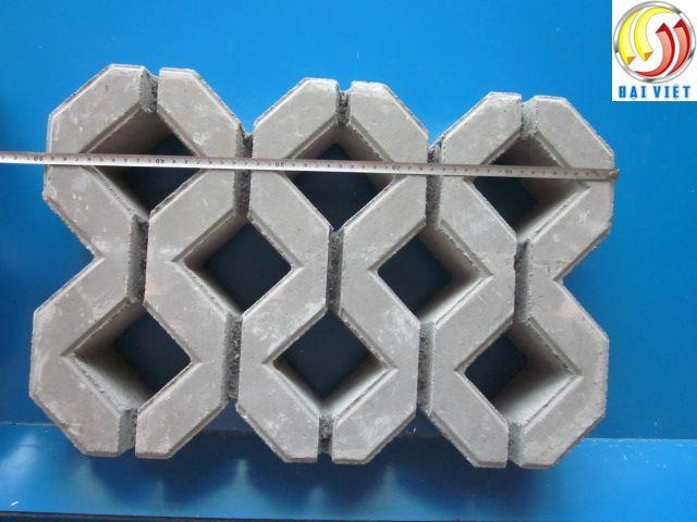 gạch màu xuyên nước bê tông cốt liệu