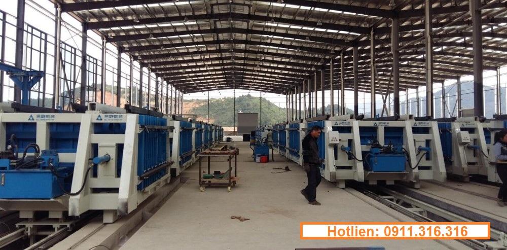 Dây chuyền sản xuất gạch xuất tấm tường panel