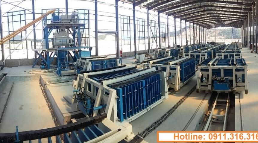 Cung cấp dây chuyền sản xuất tấm tường Panel tại Việt Nam.