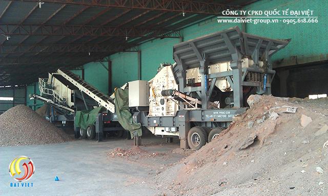 Dây chuyền nghiền đá di động giúptăng thêm độ linh hoạt trong không gian sản xuất cho cả quá trình nghiền.